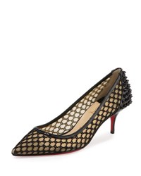 Christian Louboutin Guni Low Heel Red Sole Pump Black