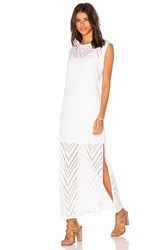Twenty Twist Perforated Maxi Dress White