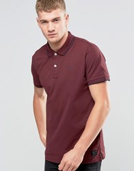 Jack And Jones Twin Tipped Polo Burgundy Red