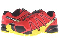 Salomon Speedcross 4 Radiant Red Black Corona Yellow Men's Shoes