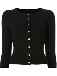 Nili Lotan Scoop Neck Cardigan Black