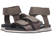 Calvin Klein Colton Toffee Tumbled Leather Men's Sandals Brown