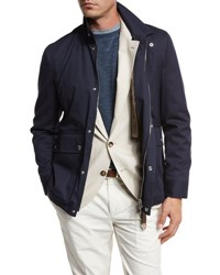 Brunello Cucinelli Cotton Nylon Utility Jacket Hunter