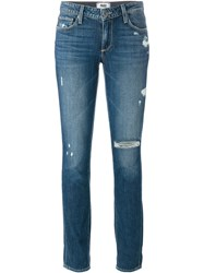 Paige Distressed Jeans Blue