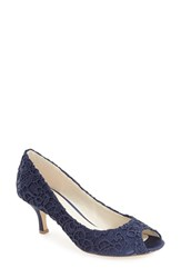 Pink Paradox London Women's 'Emotion' Peep Toe Pump Navy