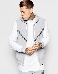 Jaded London Towelling Hoodie Grey