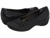 Hush Puppies Burlesque Black Leather Women's Slip On Shoes