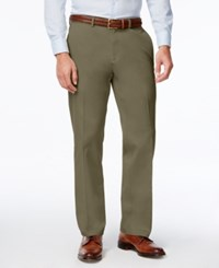 Haggar Men's Premium Straight Fit Non Iron Stretch Flat Front Pants Toast