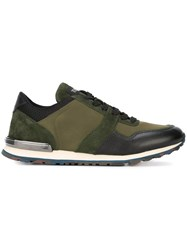 Tod's Panelled Sneakers Green