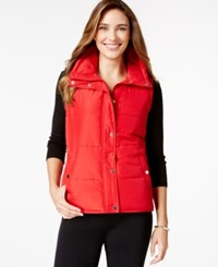 Styleandco. Style And Co. Sport Sleeveless Vest Only At Macy's New Red Amore
