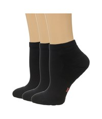 Hue Quarter Top 3 Pack Black Solids Women's Quarter Length Socks Shoes