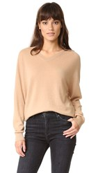 Vince Relaxed Cashmere Sweater Caramel