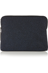 3.1 Phillip Lim 31 Minute Crepe And Leather Clutch Black