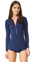 Cynthia Rowley Mesh Combo Lightweight Wetsuit Navy