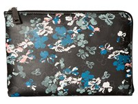 Ivanka Trump Rio Tech Clutch With Battery Charging Pack Black Ditsy Floral Clutch Handbags Multi