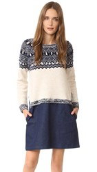 Clu Too Fair Isle Sweater Dress Navy