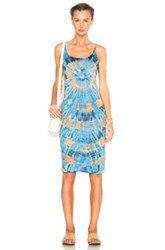 Raquel Allegra Layering Tank Dress In Blue Ombre And Tie Dye