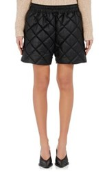 Stella Mccartney Women's Diamond Quilted Faux Leather Shorts Black