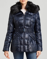 Laundry By Shelli Segal Jacket Belted Quilted Puffer