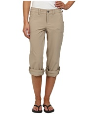 The North Face Almatta Roll Up Pant Dune Beige Women's Casual Pants