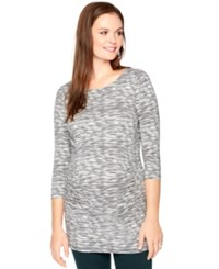 Motherhood Maternity Printed Ruched Tunic