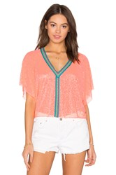 Pitusa Mini Crop Top Coral