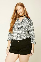 Forever 21 Plus Size Tartan Plaid Shirt