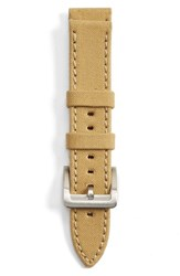 Men's Filson Tin Cloth And Leather Watch Strap Tan
