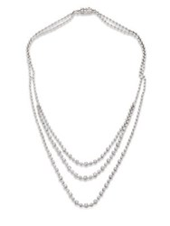 Kwiat Starry Night Diamond And 18K White Gold Three Strand Necklace