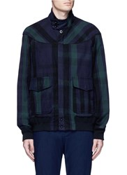 Sacai Check Plaid Flannel Blouson Jacket Blue Multi Colour