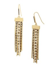 Kenneth Cole Faceted Stone Multi Row Chandelier Earrings Black