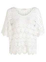 Accessorize Crete Crochet Top White