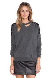 Lovers Friends Bordeaux Pullover Charcoal