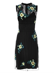 Christopher Kane Floral Embroidered Tulle Dress