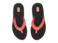Teva Mush Ii 2 Pack Fronds Black Zoey Coral Women's Sandals Red