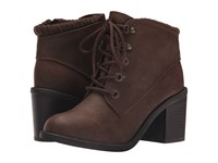 Blowfish Misty Coffee Texas Pu Knit Cuff Women's Lace Up Boots Brown