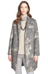 Women's Fabiana Filippi Mohair Flannel Coat Grey Multi