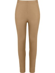 Andrea Marques Mid Rise Skinny Trousers Brown