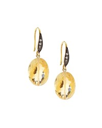 Citrine And White Sapphire Drop Earrings Margo Morrison Blue
