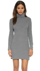 525 America Cotton Shaker Sweater Dress Medium Heather Grey
