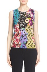 Women's Etro Floral Print Silk And Cashmere Shell