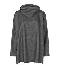 Eskandar Cowl Neck Woven Jumper Female Grey