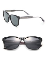 Bottega Veneta 55Mm Squared Rectangle Acetate Sunglasses Black