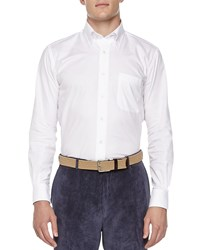 Peter Millar Solid Oxford Shirt White