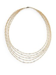 Marco Bicego Mini Marrakech Diamond And 18K Yellow Gold Multi Row Necklace