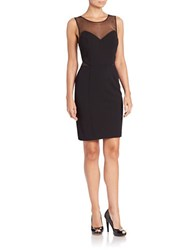 Decode 1.8 Illusion Sheath Dress Black