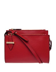 Lodis Stephanie Trisha Double Zip Leather Wallet On A String Red
