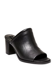 Steve Madden Sayzar Leather Mules Black