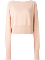 Chloe Oversized Sleeve Jumper Pink And Purple