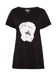 Barbour International Hairpin Royal Flush T Shirt Black